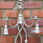 Silver Leaf Rope and Tassel Sconces
