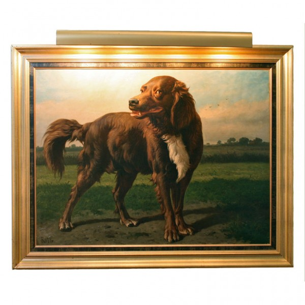 Large Oil Painting of a Hound in a Landscape