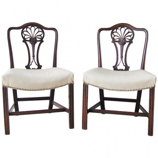 Pair of 18th C. English Racquet-Back Chairs