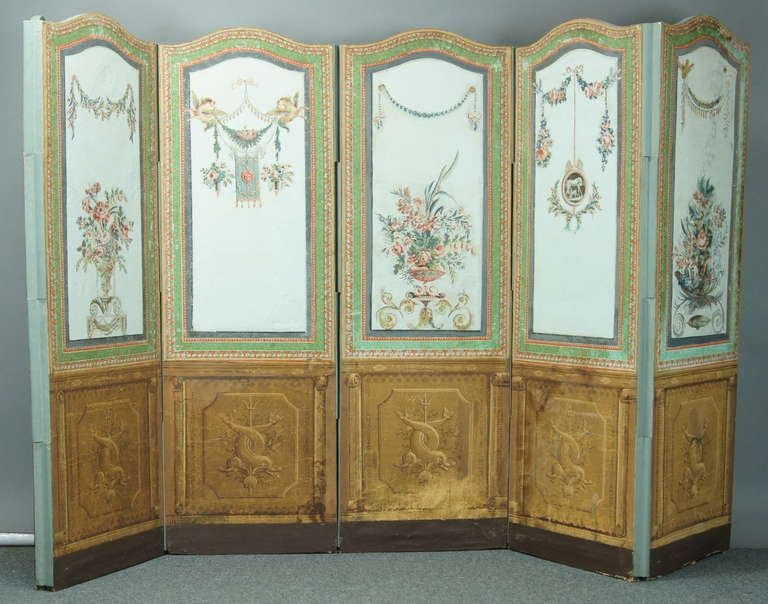 French Folding Screens : Th century french folding screen comer co