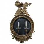 High Style Regency Convex Mirror