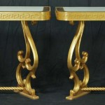 Pair of Neoclassical Style Gilt-Wood Console Tables