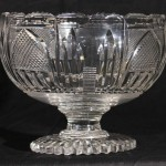 19th Century Anglo-Irish Glass Center Bowl