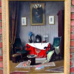 Still Life Oil Painting of a Professor's Study