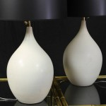 Pair of Mid-20th Century Glazed Ceramic Lamps