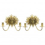 Pair of Neoclassical Gilt Bronze Candle Sconces