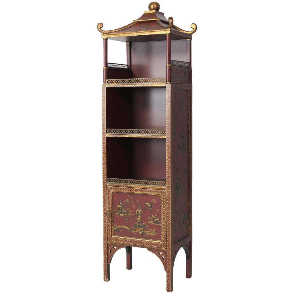 Chinoiserie Decorated Bookcase