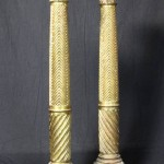 Pair of 19th Century Italian Neoclassical Gilt-Wood Columns