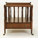 Mid-19th Century Walnut Canterbury