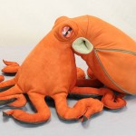 Whimsical Handmade Suede Octopus
