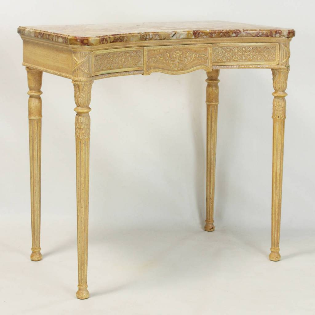 Late 20th century louis xvi style marble top console table comer late 20th century louis xvi style marble top console table geotapseo Images
