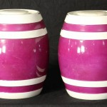 Pair of Ceramic Spirit Barrels