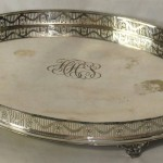 Large Sheffield Silver Gallery Tray