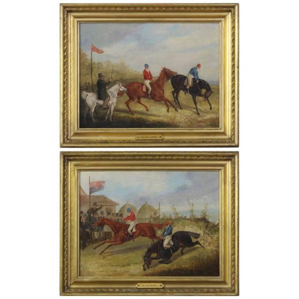 Pair of Early 19th Century English Sporting Paintings by Henry Alken.