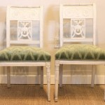 Pair of 18th Century Baltic Side Chairs in Colefax & Fowler Fabric