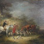 19th Century English Oil on Canvas Hunt Scene