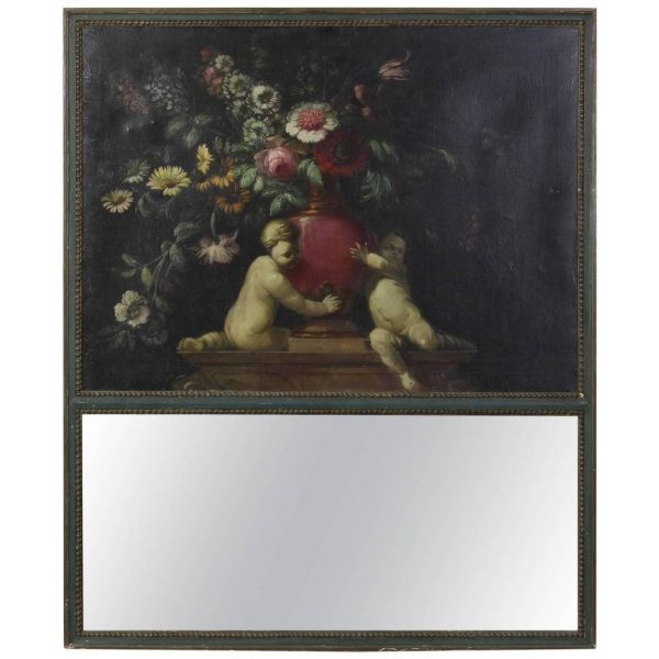 Large French Trumeau Mirror