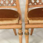 Pair of Diminutive Italian Carved Wood Slipper Chairs