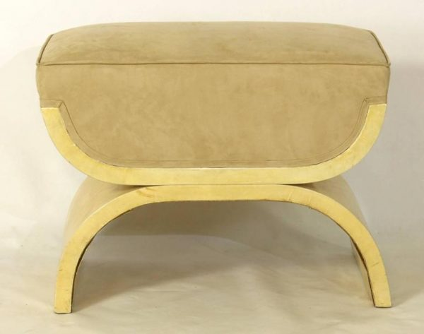Karl Springer Inspired Goatskin Stool