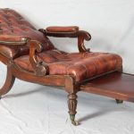 Late Regency or William IV Mahogany and Leather Library Chair