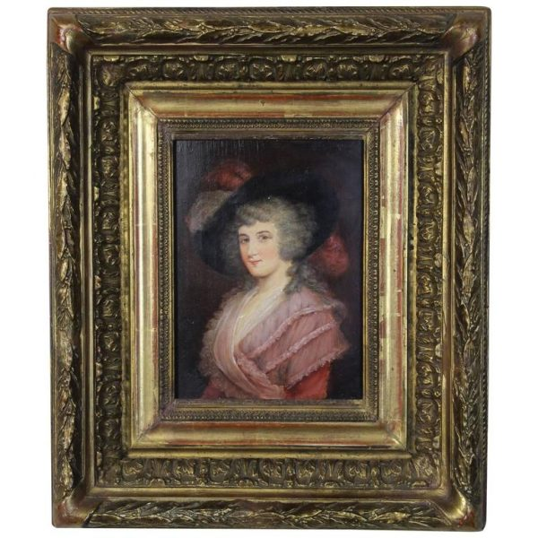 Early 19th Century English Portrait on Board