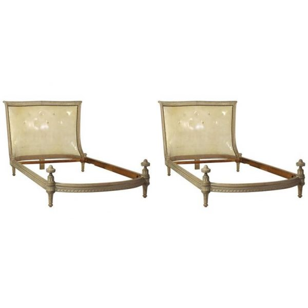 Pair of Neoclassical Style Twin Beds