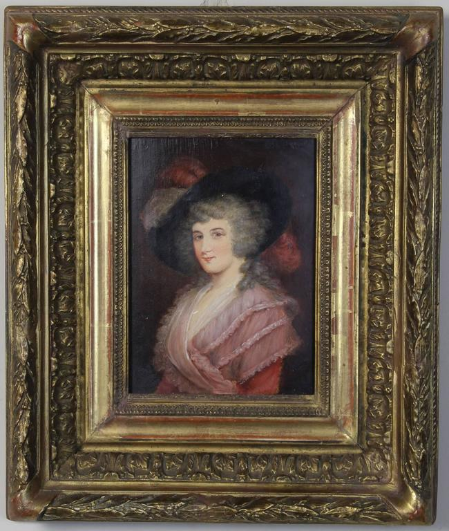 Early 19th Century English Portrait On Board Comer Amp Co