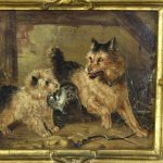 19th Century Oil on Canvas Dog Painting
