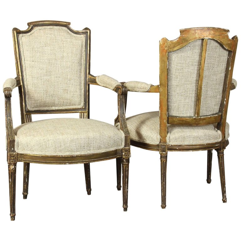 Pair of 18th Century French Fauteuils
