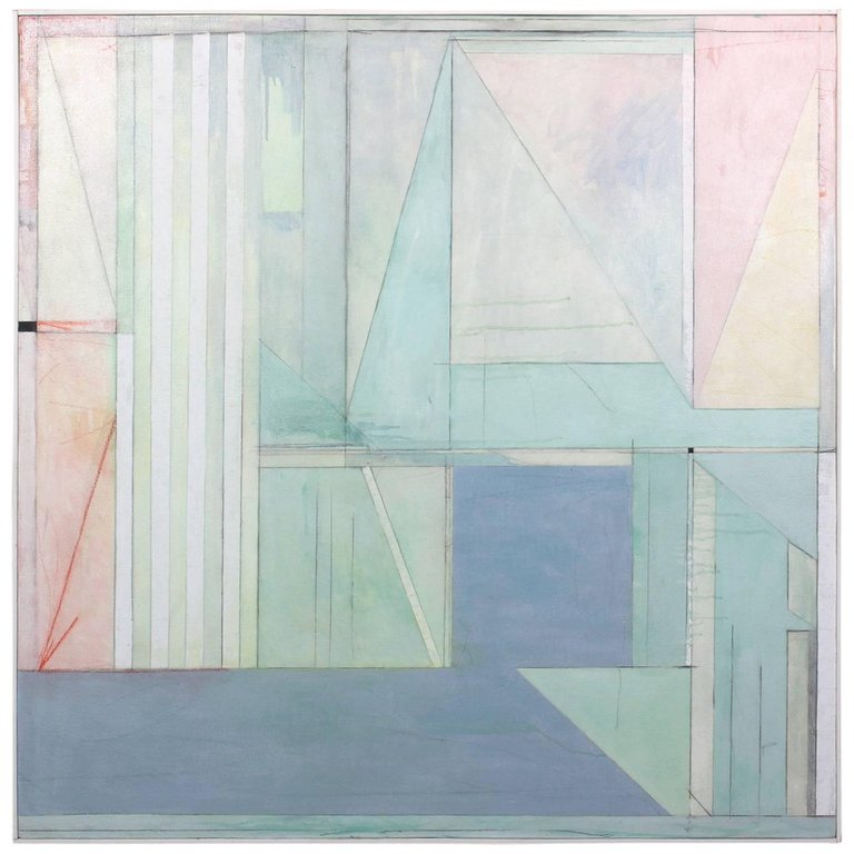 Large Abstract in the Style of Richard Diebenkorn