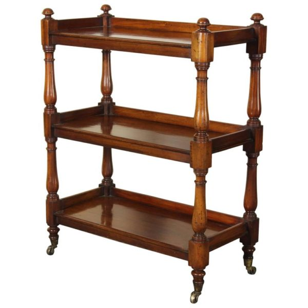 19th Century English Mahogany Trolly or Server