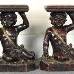 Pair of Italian Carved Wood Side Tables