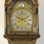 Late 18th Century George III Japanned Tall Case Clock