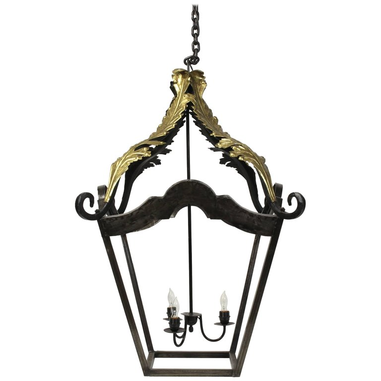 Large Forged Metal Lantern