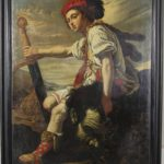 Large Painting of David with the Head of Goliath