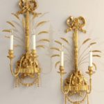Pair of Regency Style Water Gilt Sconces