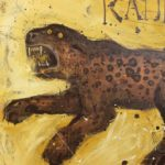 Large Contemporary Mixed Media Leopard Painting