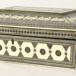 Large 19th Century Anglo-Indian Bone Sewing Box