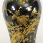 Late 18th Century Chinese Export Mirror Noir Jar Lamp