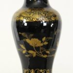 Late 18th Century Chinese Export Mirror Noir Vase Lamp