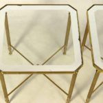 Pair of French Brass and Glass Side Tables