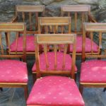 Set of Six Continental Neoclassical Dining Chairs