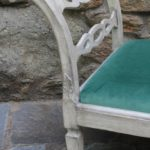 Painted Gustavian Style Bench