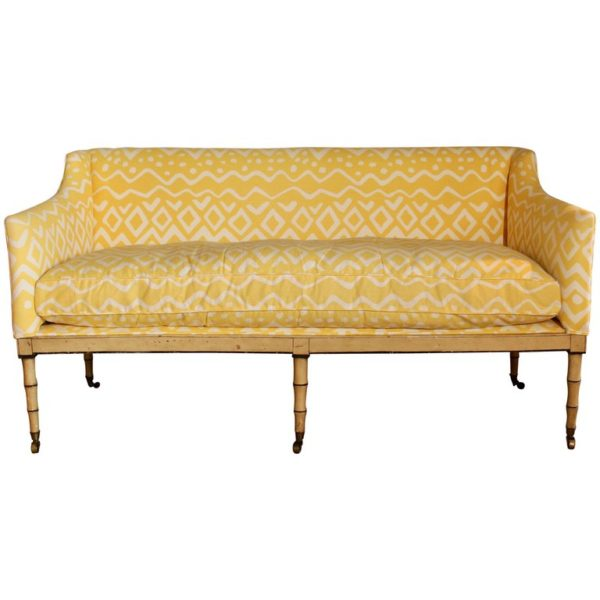 19th Century English Upholstered Sofa or Bench