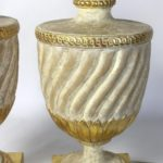 Pair of Large Painted and Gilt Decorated Lamps