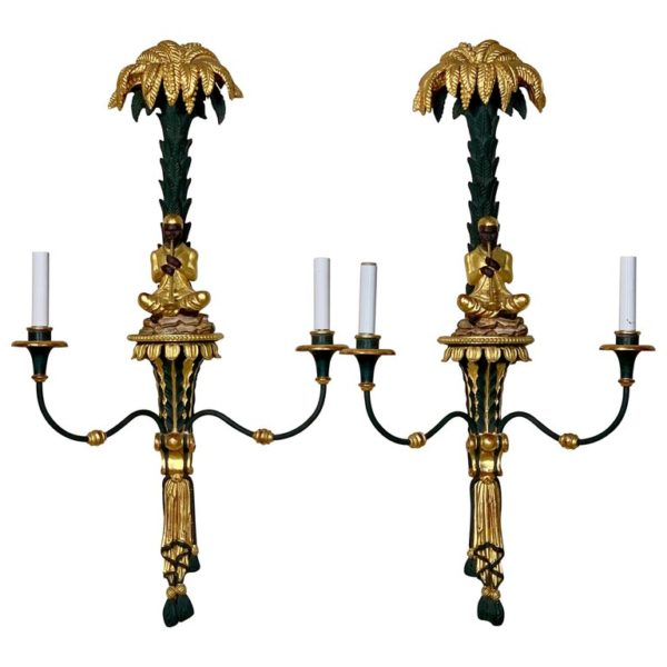 Pair of Chinoiserie Sconces