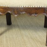 Large 18th Century Italian Upholstered Bench