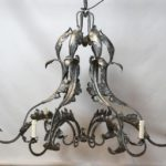 Large Wrought Steel Chandelier
