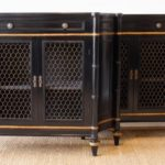 Pair of Ebonized Regency Style Credenzas