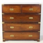 English Rosewood Campaign Chest of Drawers